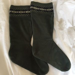 L.L. Bean fleece rainboot liners/ socks